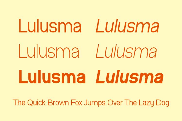 Lulusma Font