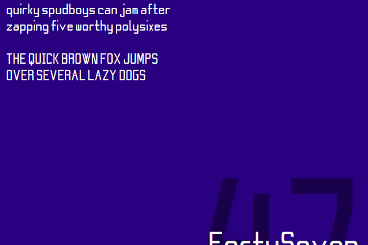 FortySeven NBP Font