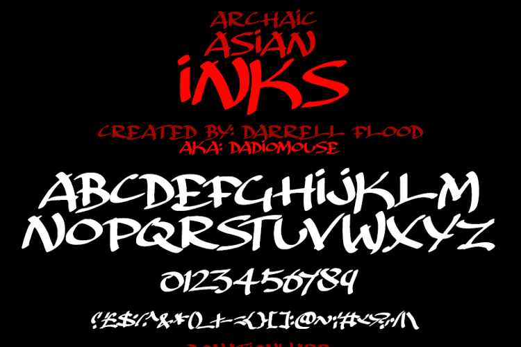 Archaic Asian Inks Font