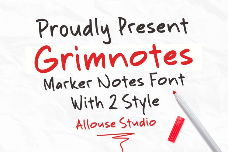 Grimnotes Font