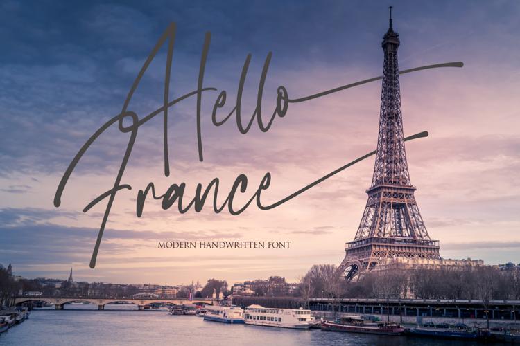 Hello France Font