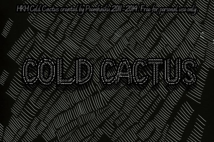 HKH Cold Cactus Font
