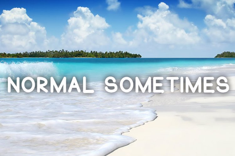 Normal Sometimes Font