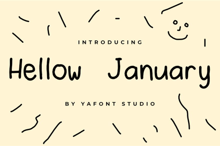 Hellow January Font
