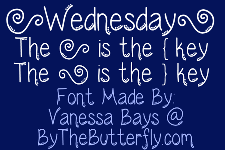 Wednesday Font