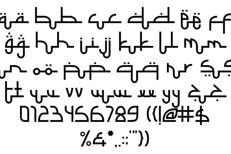 Selamet Lebaran Font