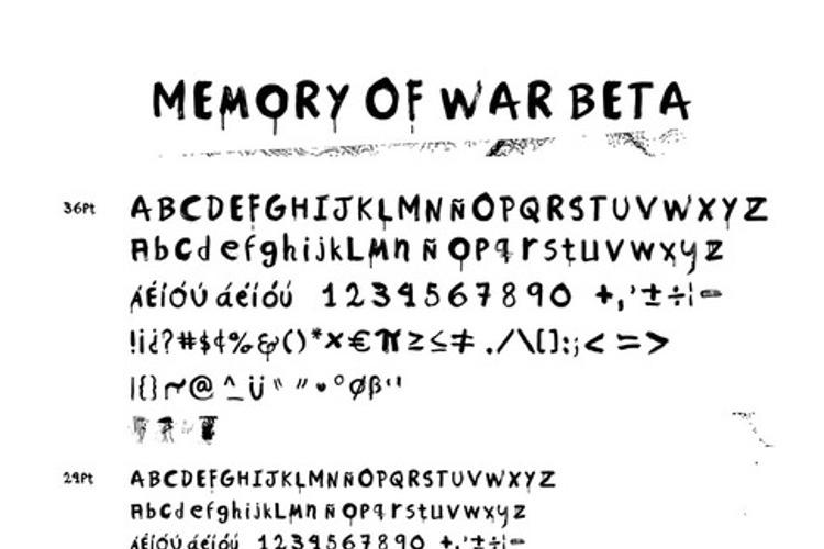Memory of War Beta 1 Font