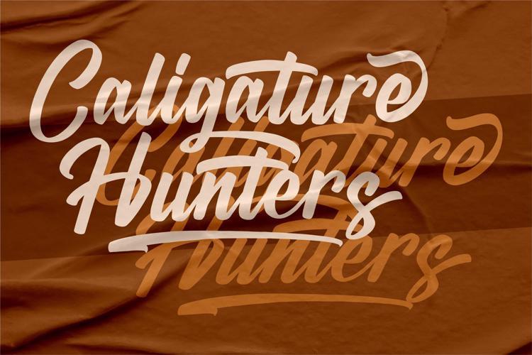 Caligature Hunters Font