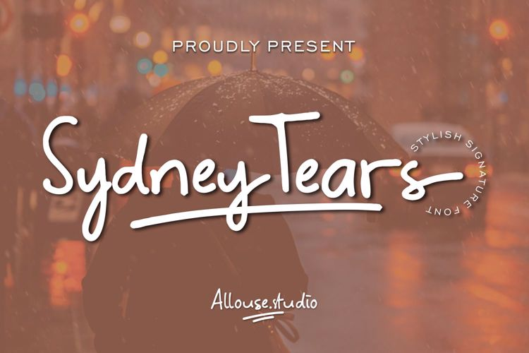 Sydney Tears Font