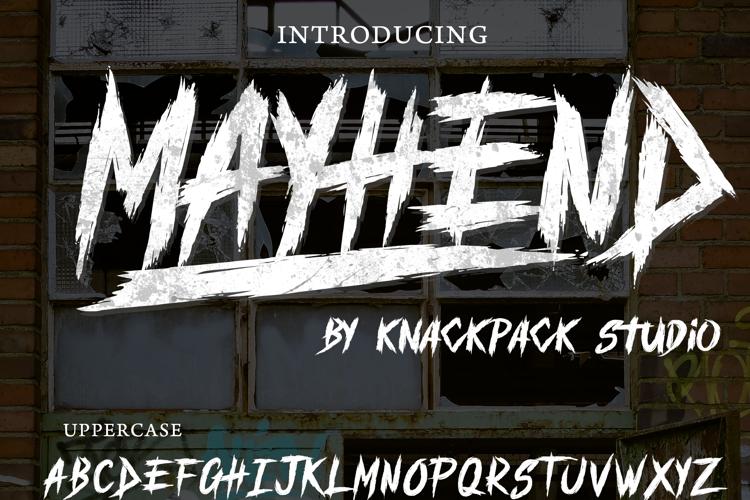 MAYHEND  demo Font