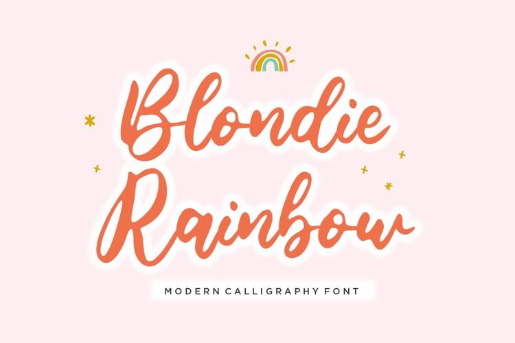 Blondie Rainbow Font