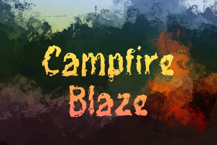 c Campfire Blaze Font
