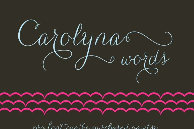 Carolyna Words Font
