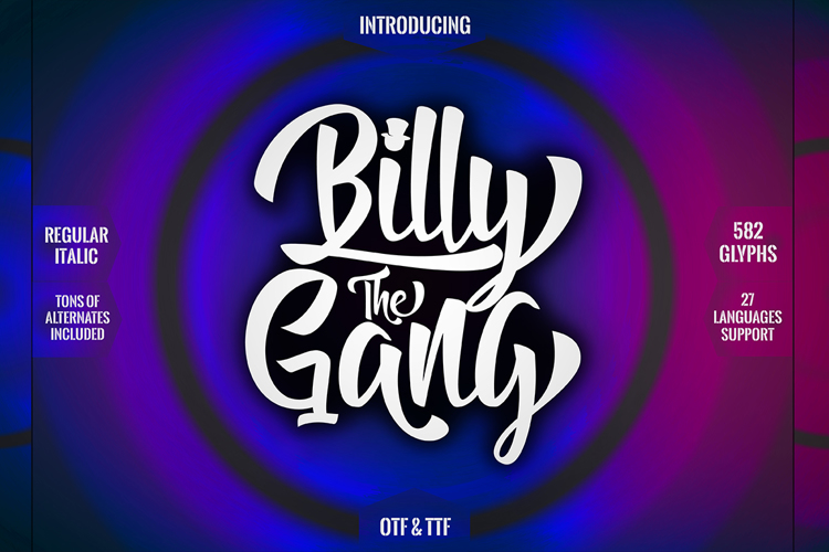 Billy The Gang Font