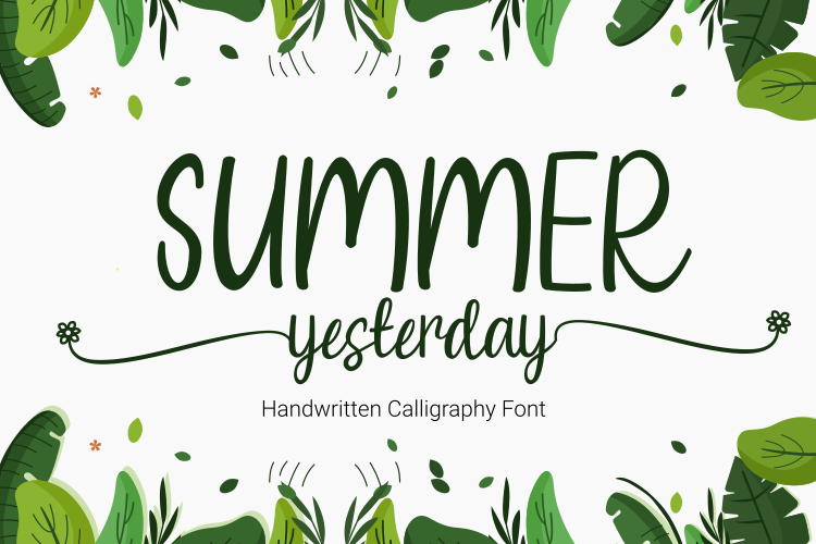 Summer Yesterday Font