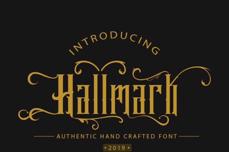 Hallmark demo Font