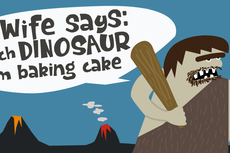 Dinosaur Cake DEMO Font