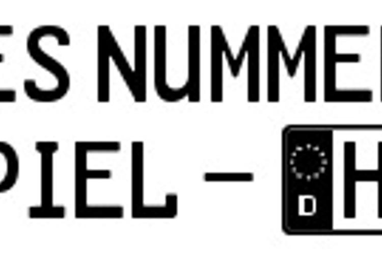 GL-Nummernschild Font