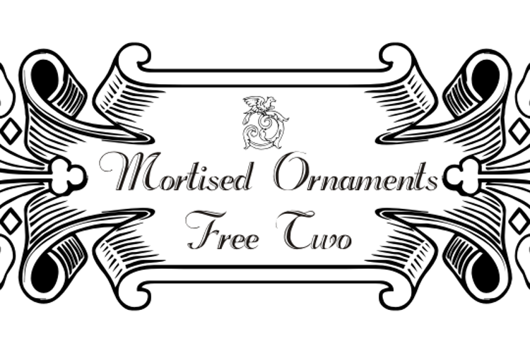 Mortised Ornaments Free Two Font