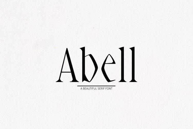 Abell Black Font