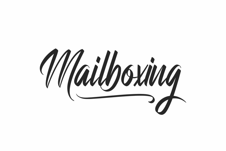 Mailboxing Font
