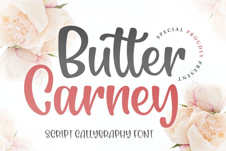 Butter Carney Font