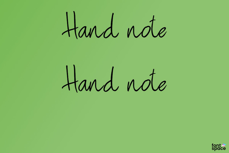 Hand note Font