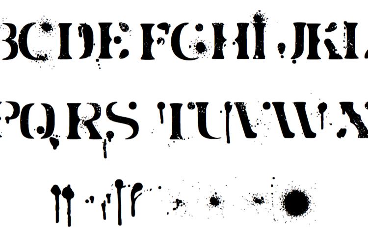 Jot Spray Paint Font