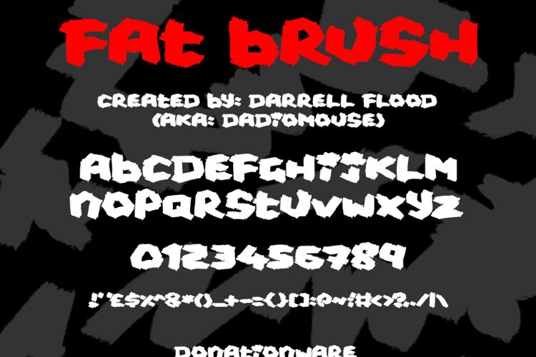 Fat Brush Font