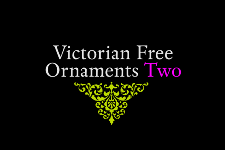 Victorian Free Ornaments Two Font