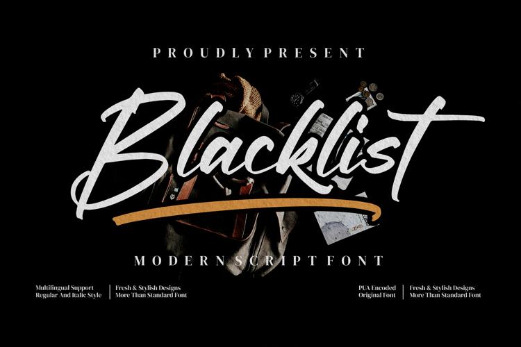 Blacklist Font