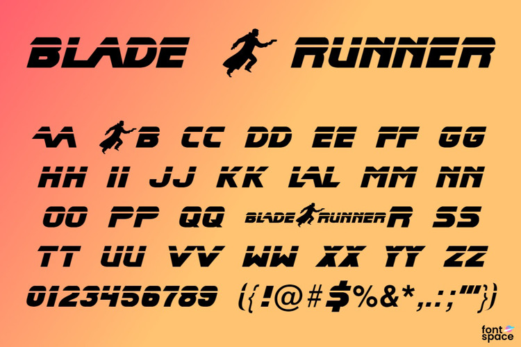 Blade Runner Movie Font