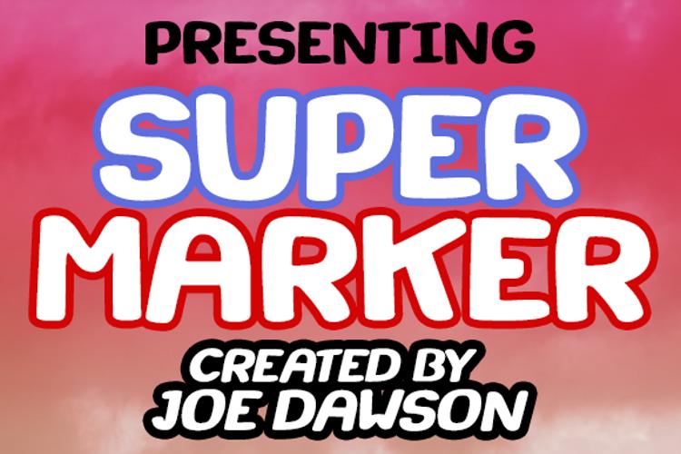 Super Marker Font