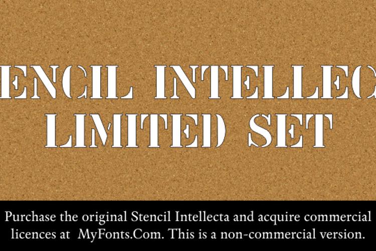 Stencil Intellecta Limited Set Font