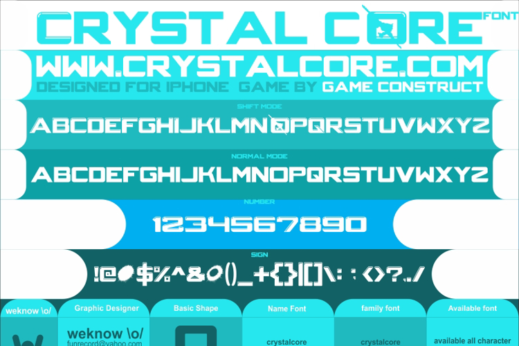 CRYSTALCORE Font