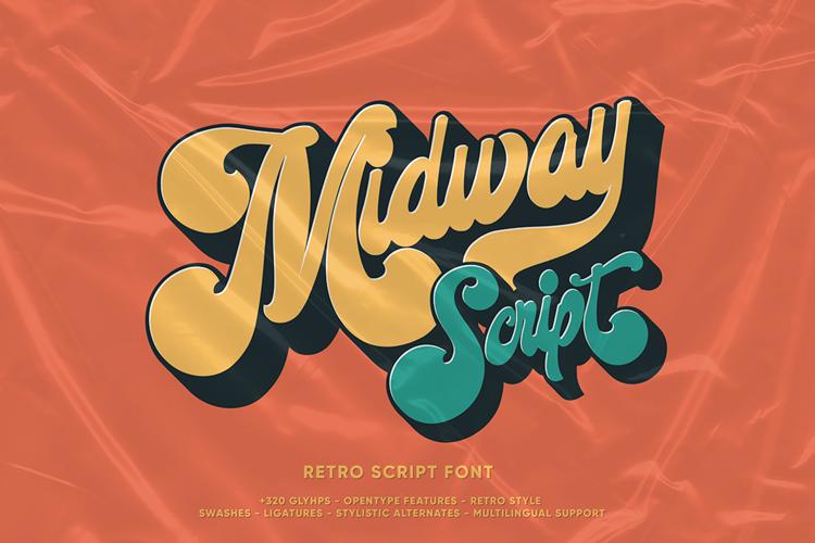 Midway Retro Font