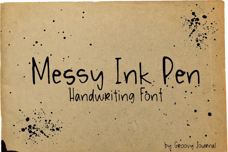 Messy Ink Pen Font