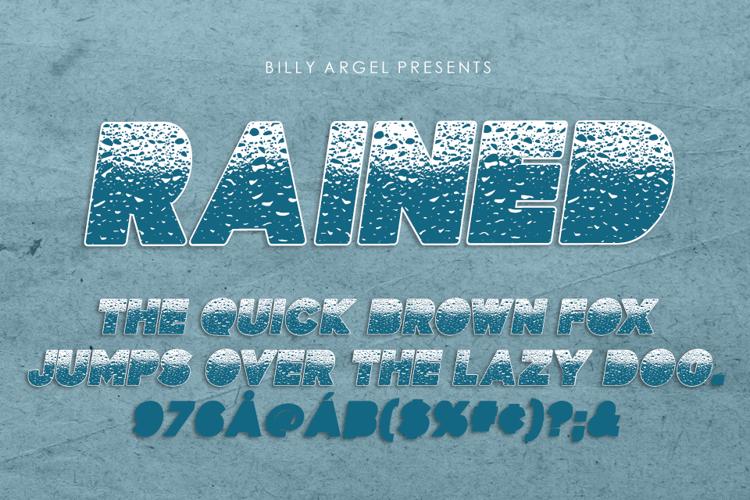 RAINED Font