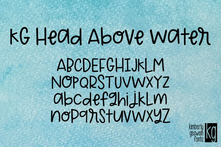 KG Head Above Water Font