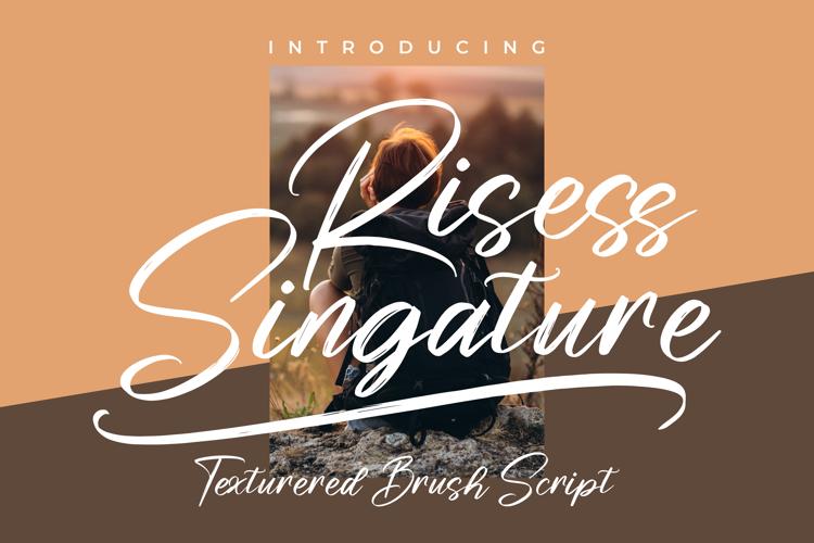 Risess Singature Font