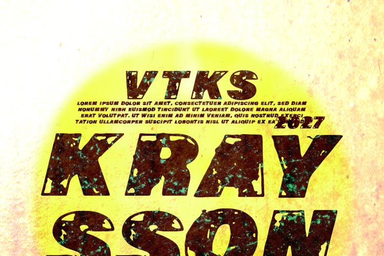 VTKS KRAYSSON Font