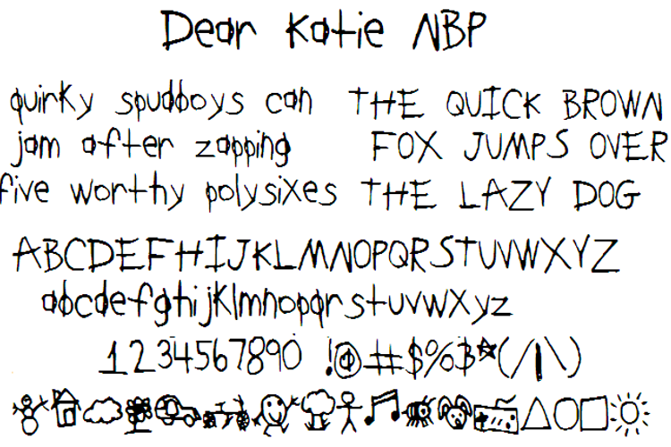 DearKatieNBP Font
