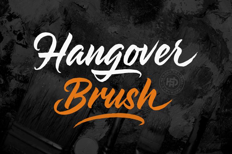 Hangover Brush Font