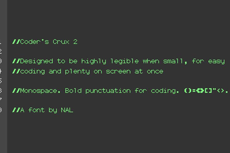 Coder's Crux 2 Font