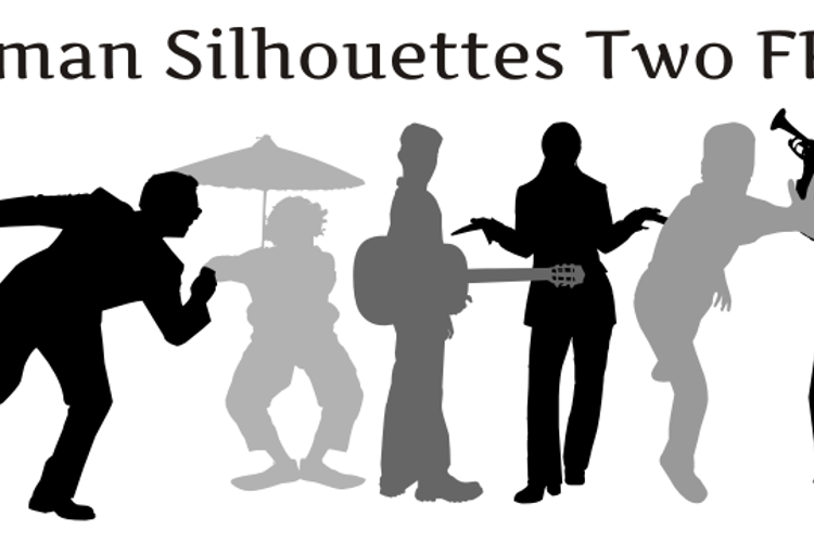 Human Silhouettes Free Two Font