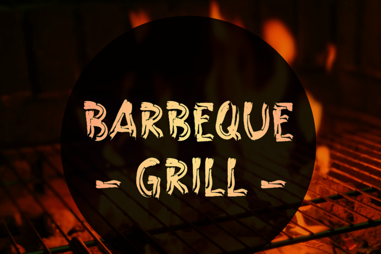 a Barbeque Grill Font