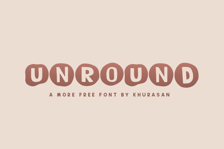 Unround Font