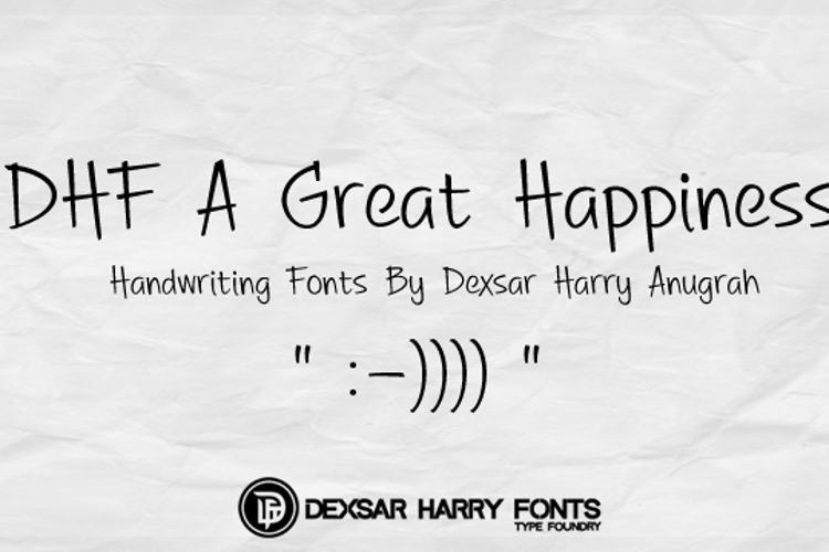 DHF A Great Happiness Font