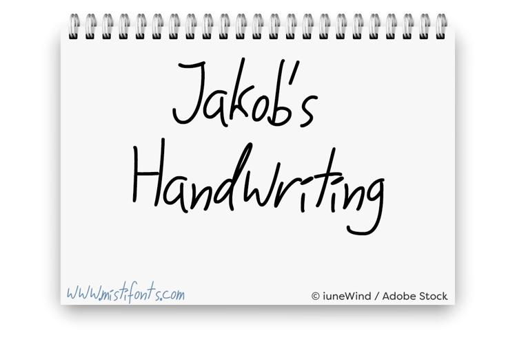 Jakobs Handwriting Font
