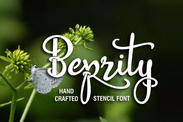 Beprity Stencil Font